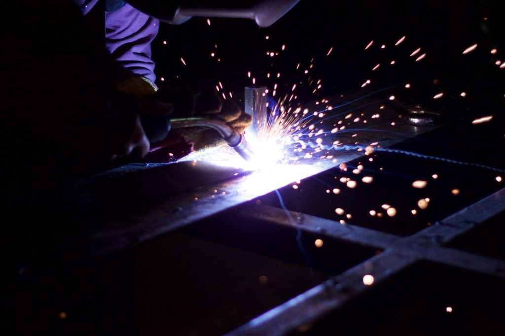 metalworking, iron, sparks